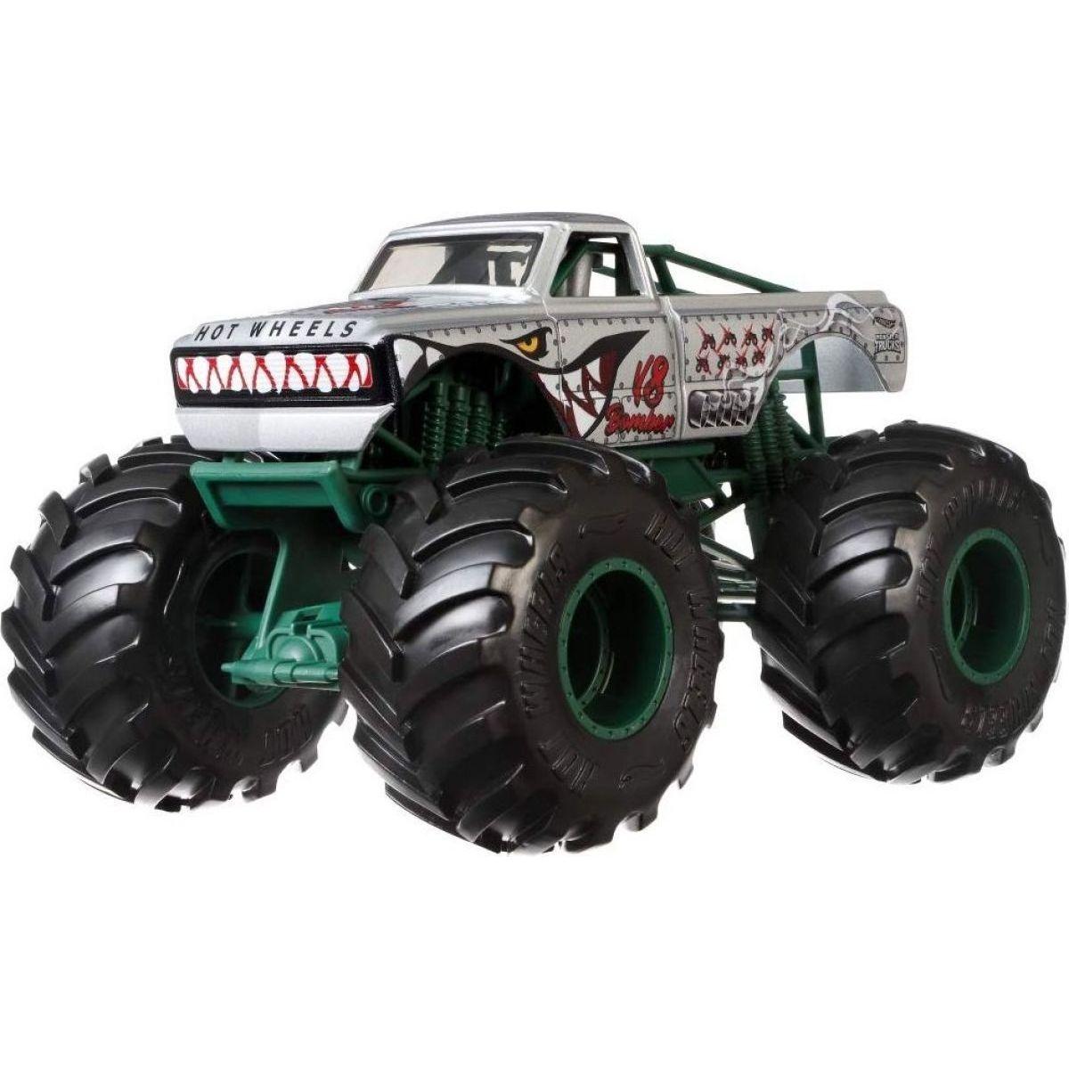 Hot Wheels Monster trucks kaskadérské kousky V8 Bomber