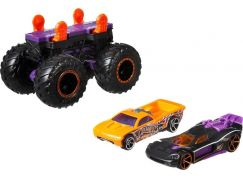 Hot Wheels Monster trucks stvořitel černo-fialový podvozek