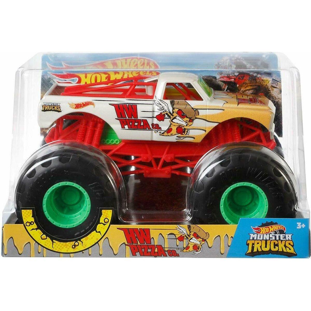 Hot Wheels Monster trucks velký truck HW Pizza CO.