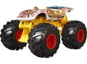 Hot Wheels Monster trucks velký truck Twin Mill bílo-žlutý