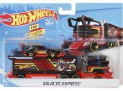 Hot Wheels Náklaďák Galactic Express černo-červený