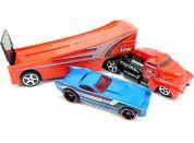Hot Wheels Náklaďák Rock n Race červený