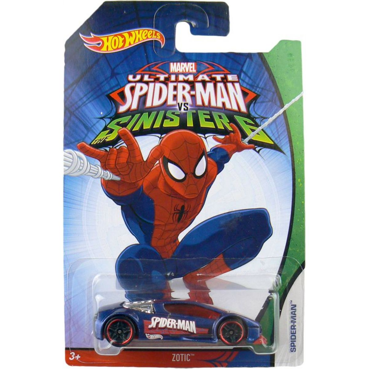 Hot Wheels Spiderman Autíčko - Zotic Spider Man