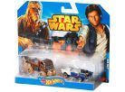 Hot Wheels Star Wars 2ks autíčko - Han Solo a Chewbacca 2