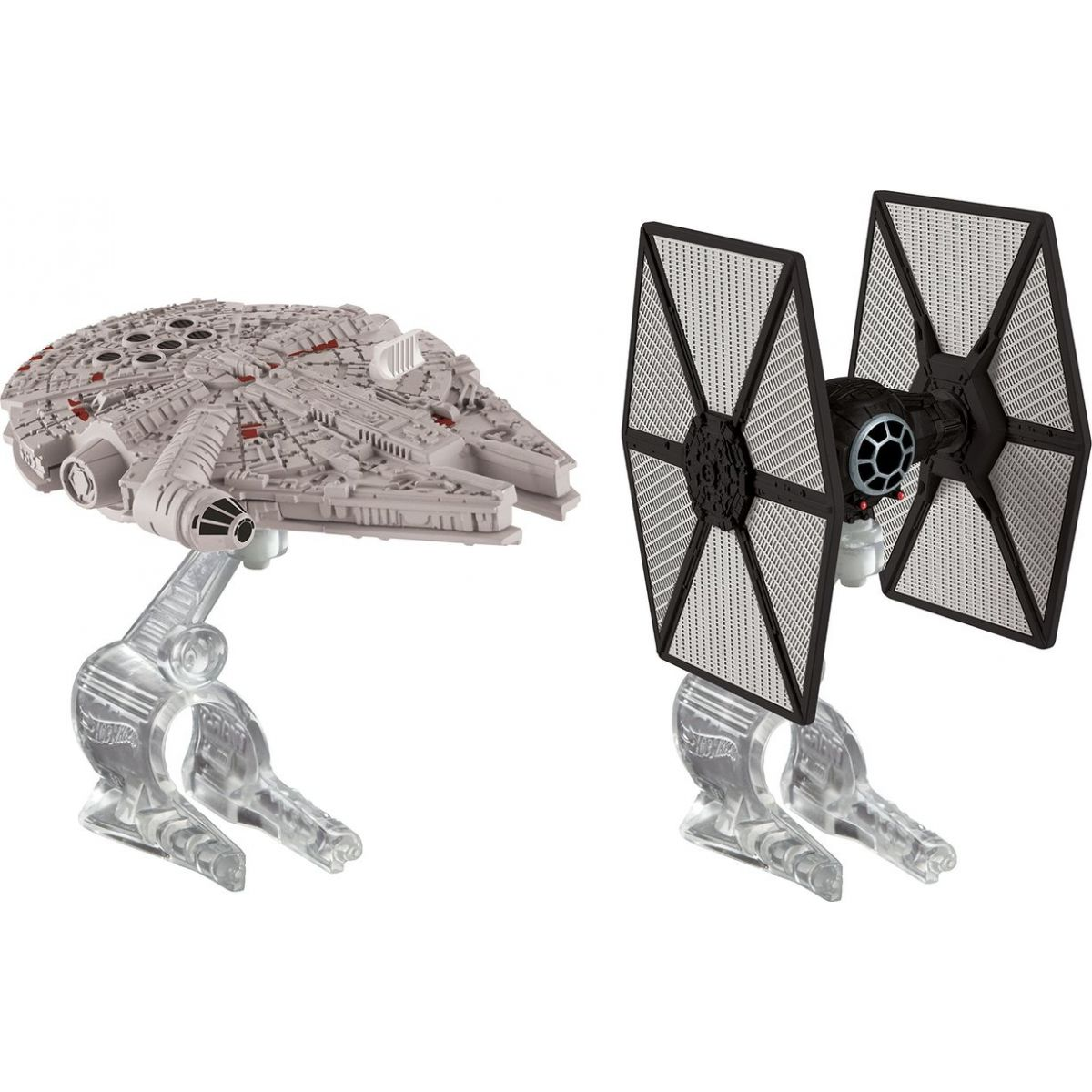 Hot Wheels Star Wars 2ks hvězdná loď - Tie Fighter vs Millennium Falcon