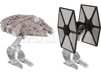Hot Wheels Star Wars 2ks hvězdná loď - Tie Fighter vs Millennium Falcon