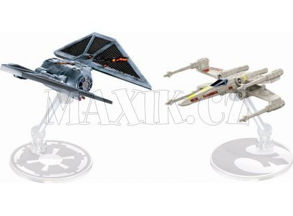 Hot Wheels Star Wars Starship - Tie Striker vs. X-Wing Fighter DXM38