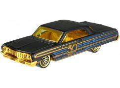 Hot Wheels Tématické auto - 50. let výročí Black & Gold 64 Impala