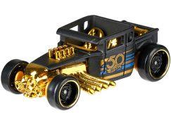 Hot Wheels Tématické auto - 50. let výročí Black & Gold Bone Shaker