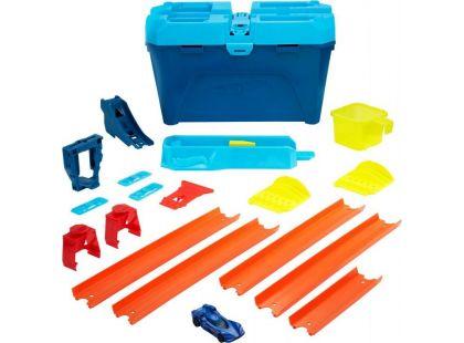 Hot Wheels Track Builder v kufříku Světle modré víko