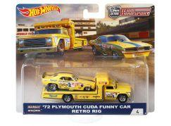 Hot Wheels týmový náklaďák 72 Plymouth Cuda Funny Car Retro Rig 4