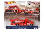 Hot Wheels týmový náklaďák Plymouth Duster Funny Car Retro Rig 5