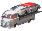 Hot Wheels týmový náklaďák Volkswagen Transporter T1 Pickup a Porsche 356