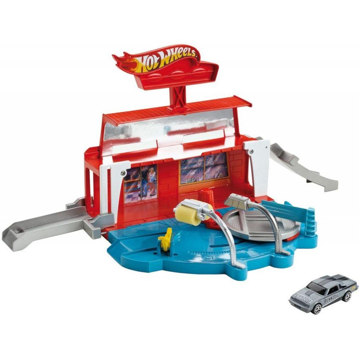 Hot Wheels X9295 klasická hrací sada - Myčka