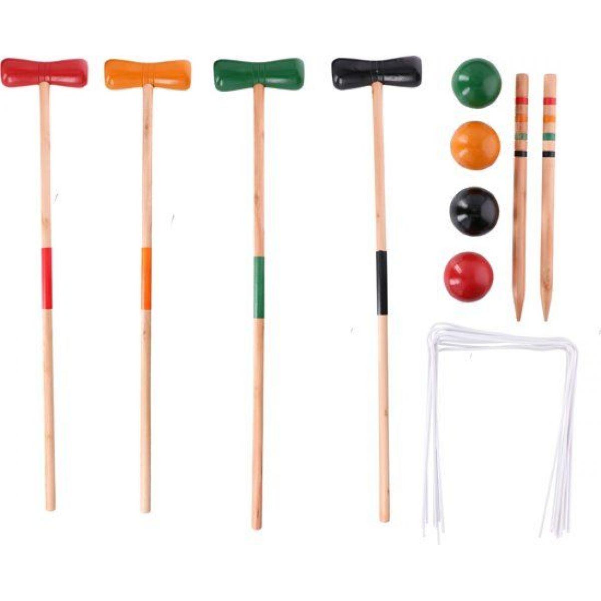 Hra Kroket dřevo pro 4 hráče v krabici
