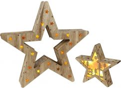Hvězda 2v1 10+6 LED Nature