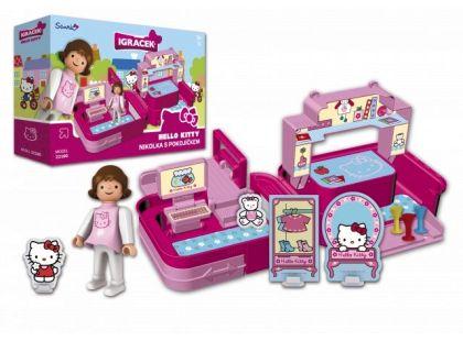 Igráček a Hello Kitty Nikolka s pokojíčkem a doplňky