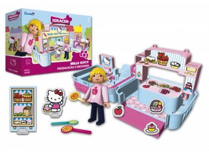 Igráček a Hello Kitty Prodavačka s obchodem a doplňky