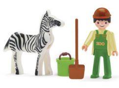 Igráček Ošetřovatel se zebrou a doplňky