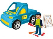 Igráček Řemeslník s autem a doplňky
