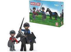 Igráček Trio Dva rytíři a černý kůň