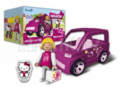 Igráček a Hello Kitty Adélka s autem a doplňky