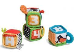 Infantino Textilní kostky s aktivitami 4 ks