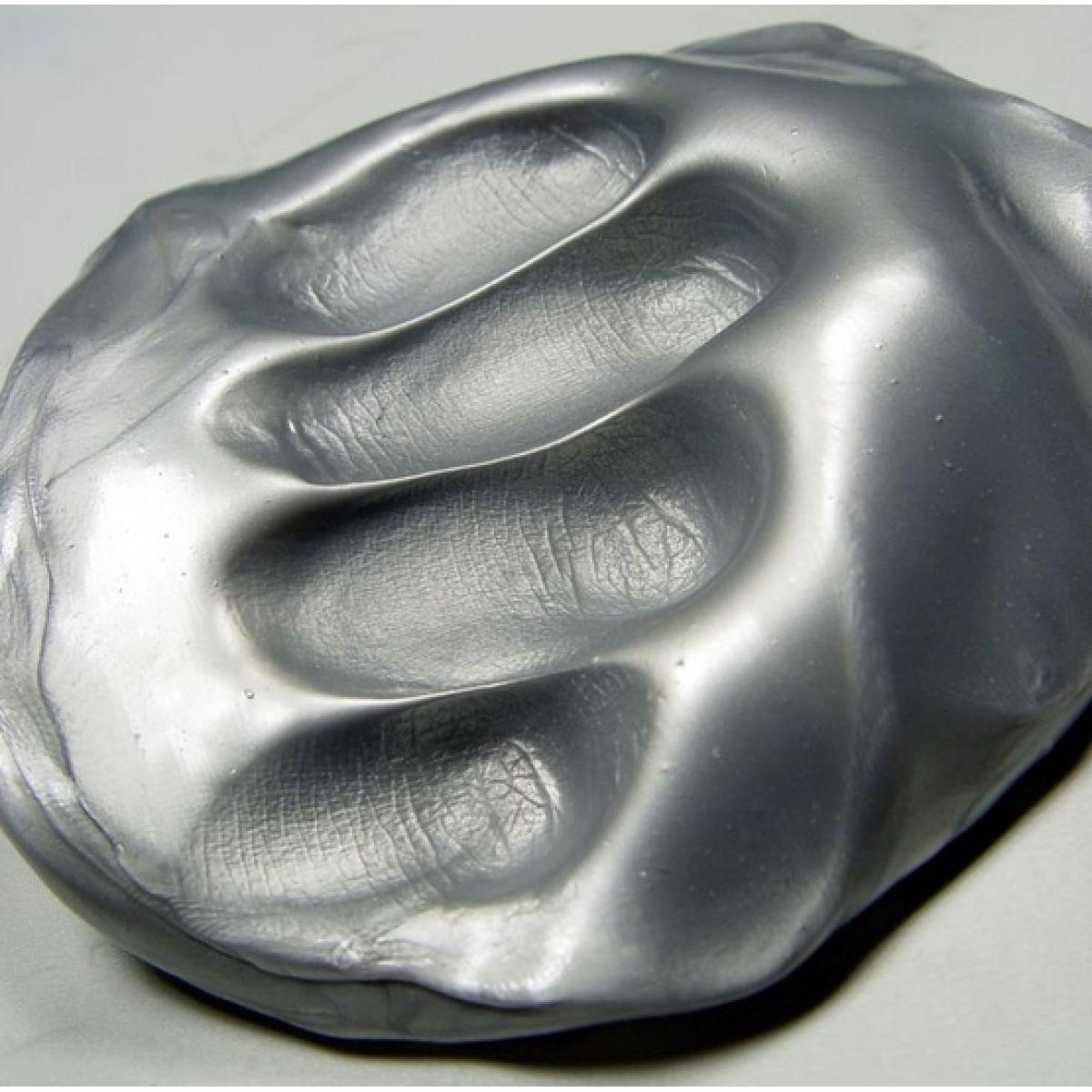 Inteligentní plastelína Zářivá stříbrná