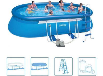 Intex 28194 Oválný bazén s konstrukcí 610x366x122cm
