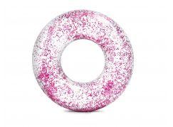 Intex 56274NP Kruh plovací flitrový Růžový