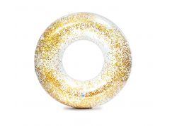 Intex 56274NP Kruh plovací flitrový Zlatý