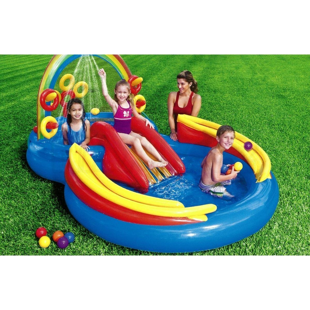 Intex 57453 hrac centrum 297x193cm max kovy hra ky - Bambini in piscina a 3 anni ...