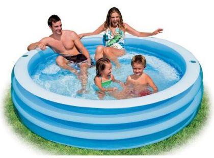 Intex 57481 Bazén modrý s půlkruhovým sedátkem 203x56cm