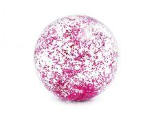 Intex 58070NP Balón nafukovací flitrový Růžový