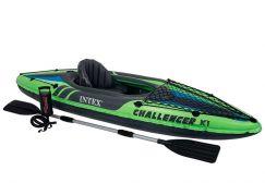 Intex 68305 Kajak Challenger K1 + Pádla + Pumpa