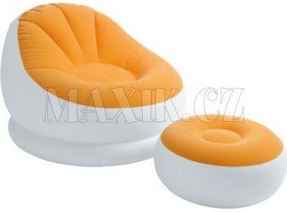 Intex 68572 Nafukovací křeslo s podnožkou - Oranžová