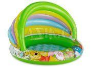 Intex Nafukovací bazén se stínítkem Medvídek Pú - Zelené dno