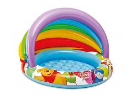Intex Nafukovací bazén se stínítkem Medvídek Pú - Modré dno