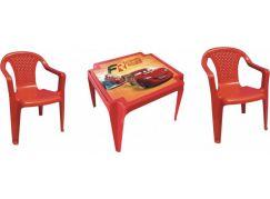 Ipae sada 2 židličky se stolečkem červený Disney Cars