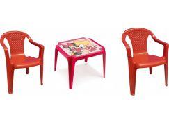 Ipae sada 2 židličky se stolečkem červený Disney Minnie