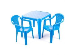Ipae sada 2 židličky se stolečkem modrý