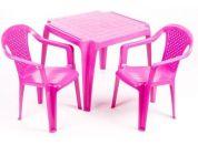 Ipae sada 2 židličky se stolečkem růžová