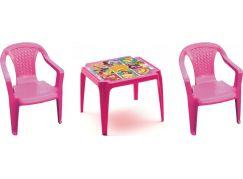 Ipae sada 2 židličky se stolečkem růžový Disney Princess