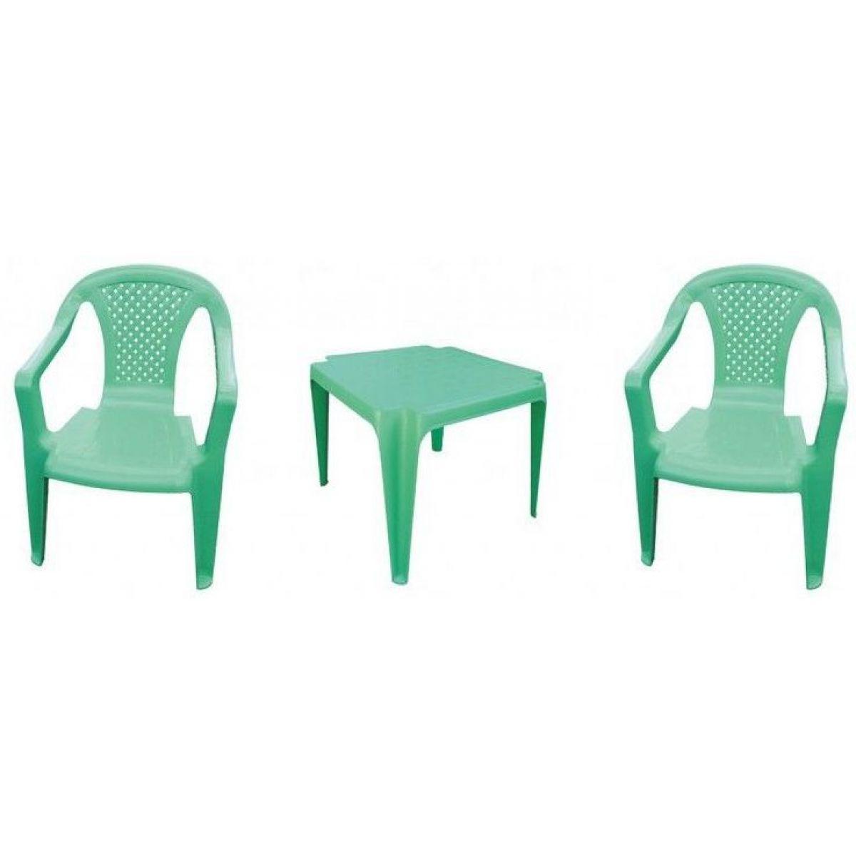 Ipae sada 2 židličky se stolečkem zelená