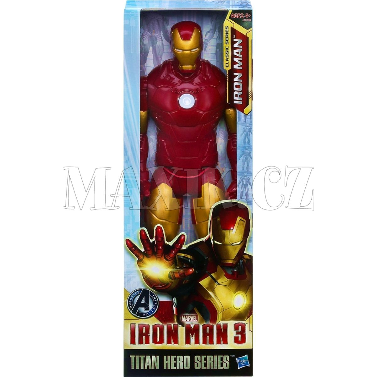 Iron man figurka 30cm max kovy hra ky for Maison d iron man