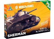 Italeri Easy to Build World of Tanks 34101 Sherman 1:72
