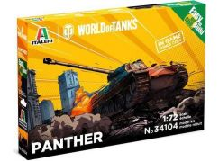 Italeri Easy to Build World of Tanks 34104 Panther 1:72