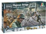 Italeri Model Kit diorama 6194 Pegasus Bridge Airborne Assault 1:72