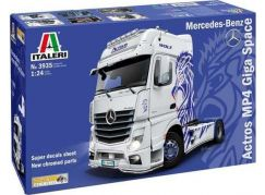 Italeri Model Kit truck 3935 Mercedes-Benz ACTROS MP4 Giga Space 1:24a