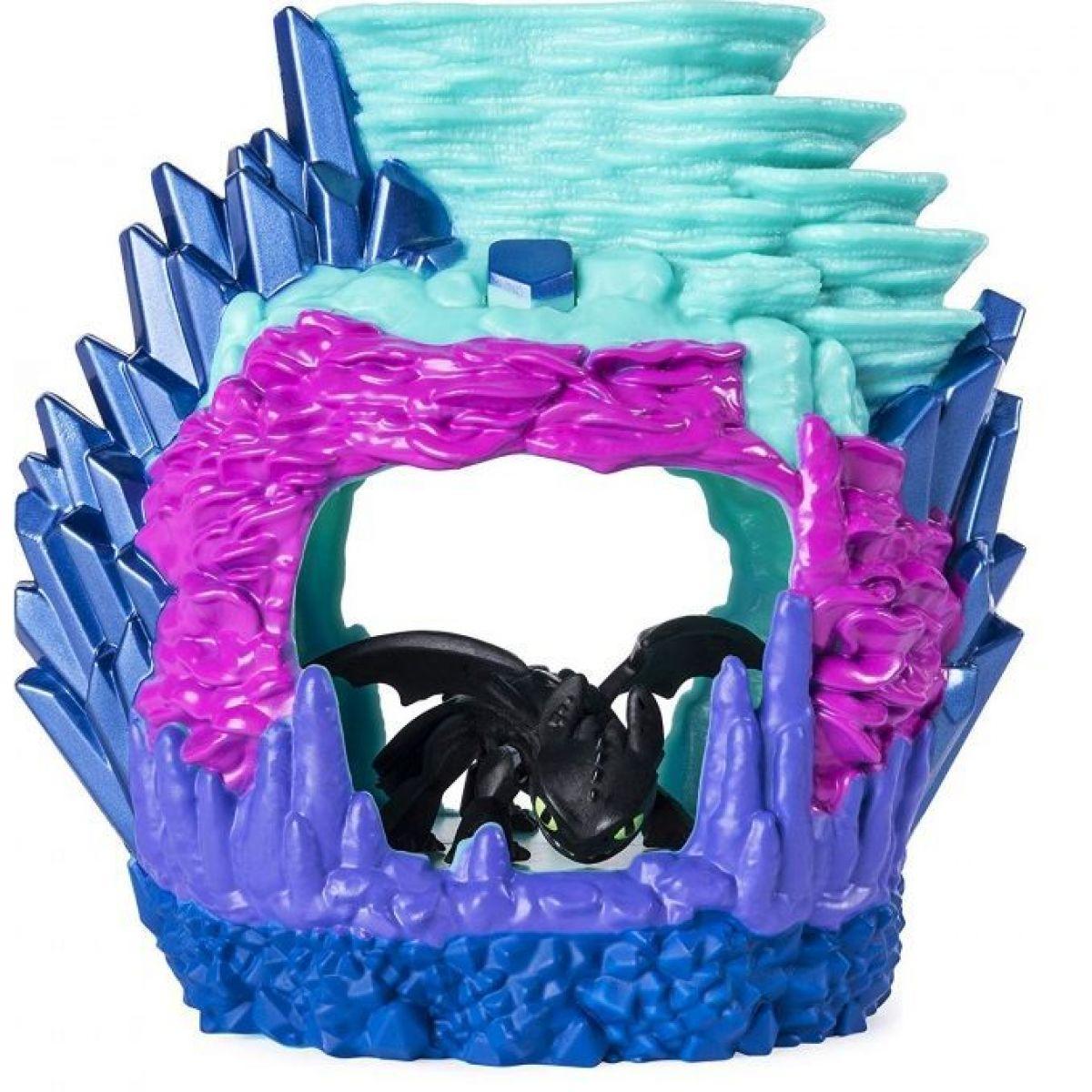 Jak vycvičit draka Svítící dračí Jeskyně s figurkou Toothless